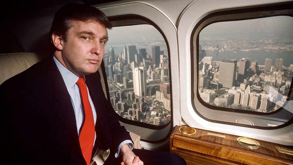 Donald Trump in Helicopter