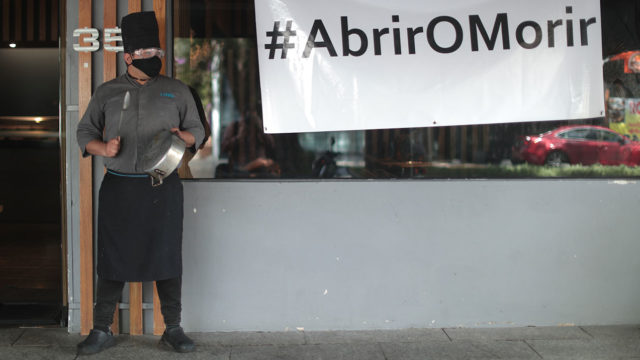 Restaurantes Protesta Restaurants And Bars Protest Against Lockdown
