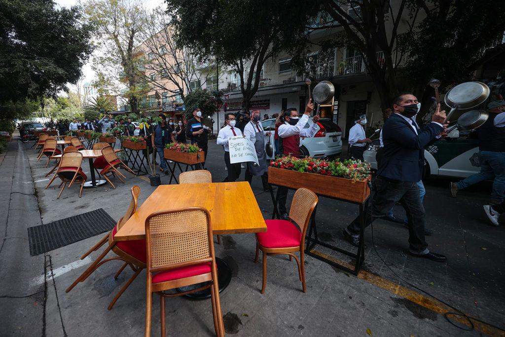 Restaurantes protesta Restaurants And Bars Protest Against Lockdown