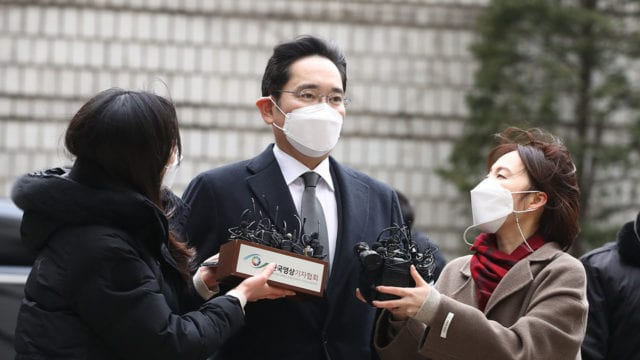 Samsung Electronics Vice Chairman Jay Y. Lee Appears at Court for Verdict on Corruption Charges