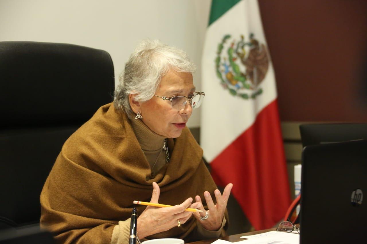 Sánchez Cordero llama a la unión a gobernadores ante estrategia de vacunación