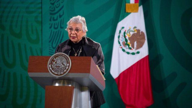conferencia mañanera Olga Sánchez Cordero