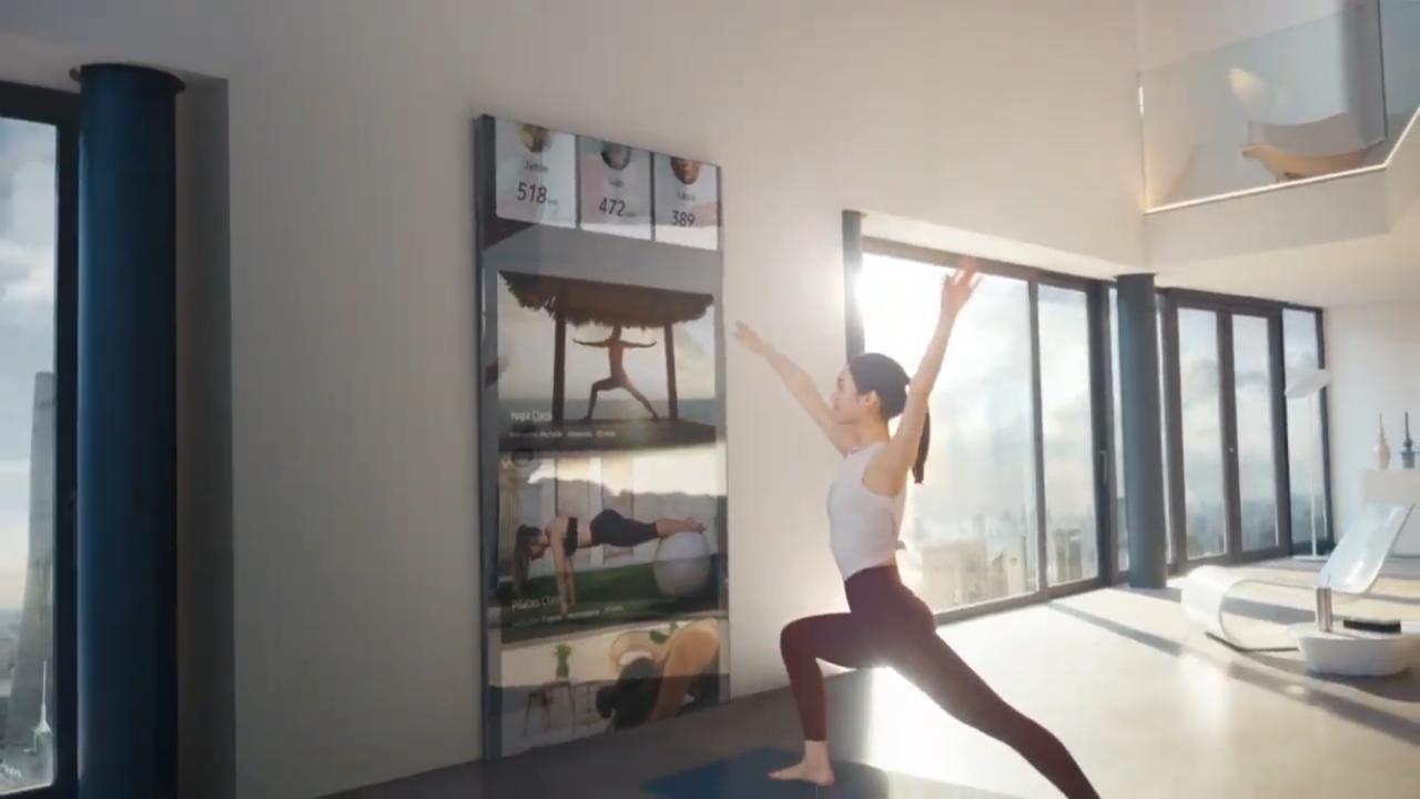 Samsung quiere que paredes, techos y hasta cortinas sean pantallas