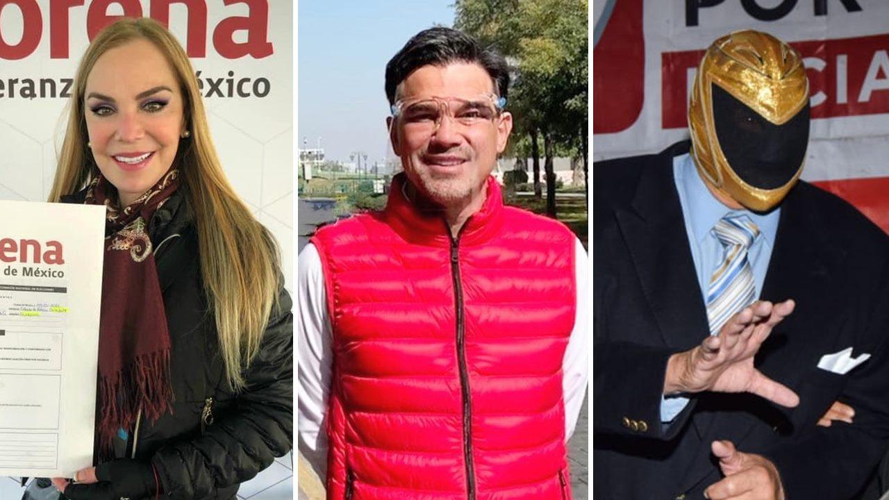 Gaby Goldsmith, 'Pato' Zambrano, 'Tinieblas'… famosos buscan una candidatura