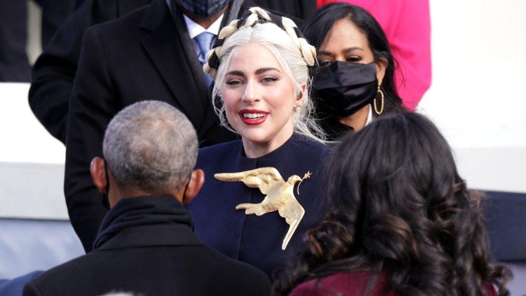 Lady Gaga vestido Joe Biden himno