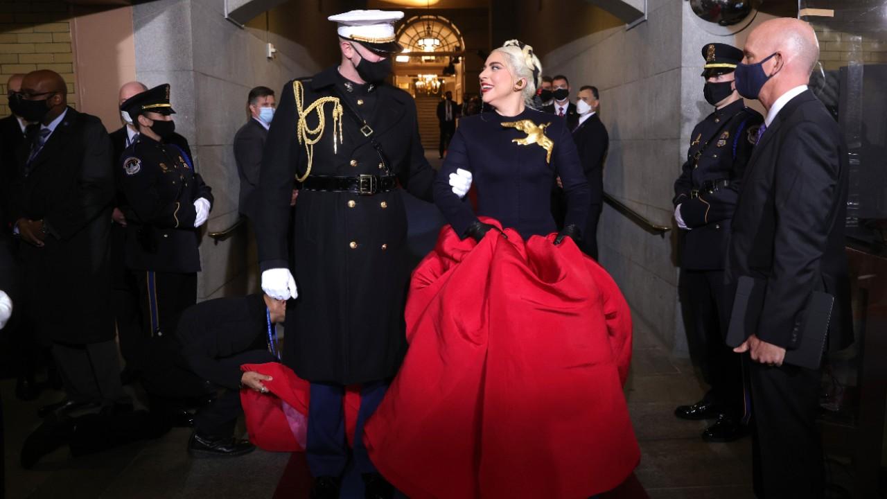 Así lució Lady Gaga en la ceremonia de protesta de Joe Biden