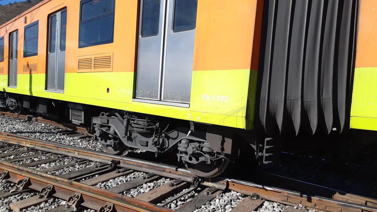 Tren de la Línea A del Metro se descarrila en la estación La Paz