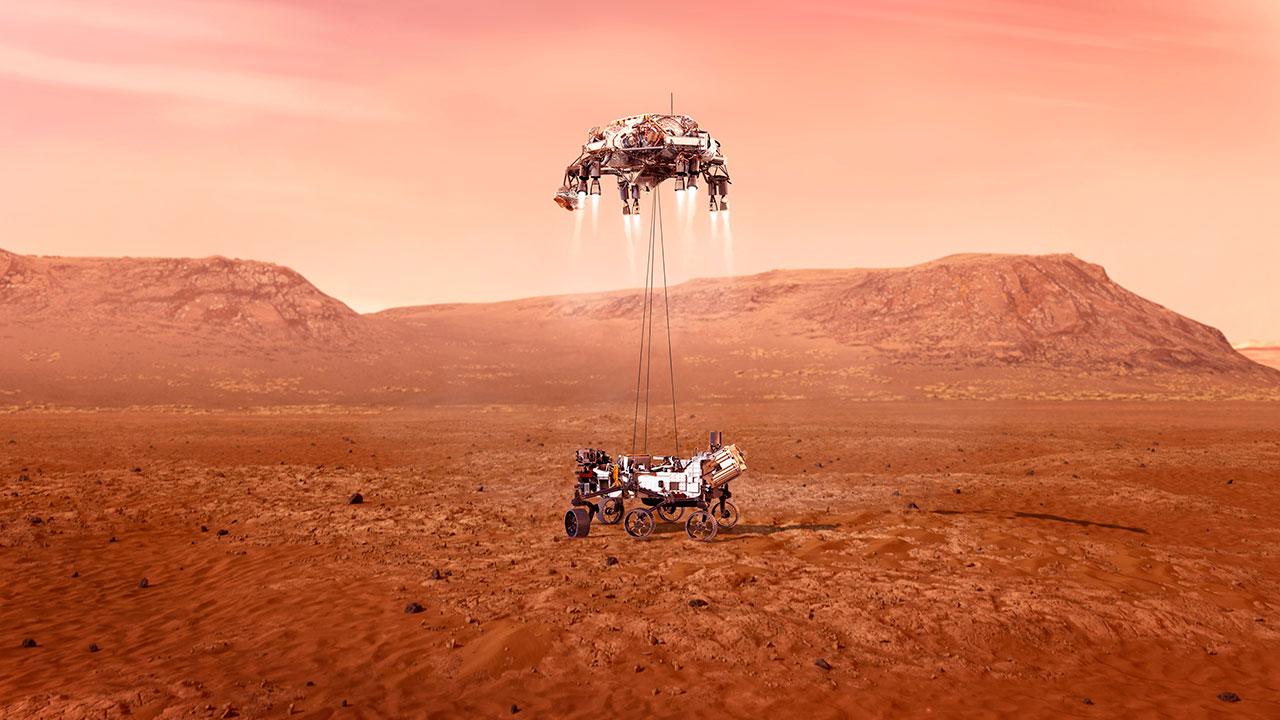 """Aterrizaje en Marte de el rover Perseverance """"en busca de señales de vida"""""""