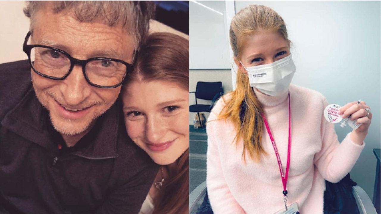 Jennifer Gates, hija de Bill, se burla de las teorías de conspiración tras recibir vacuna contra Covid-19