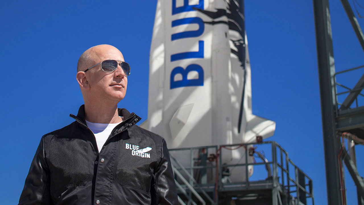 Jeff Bezos Blue Origin NewShepard LaunchPadCheck