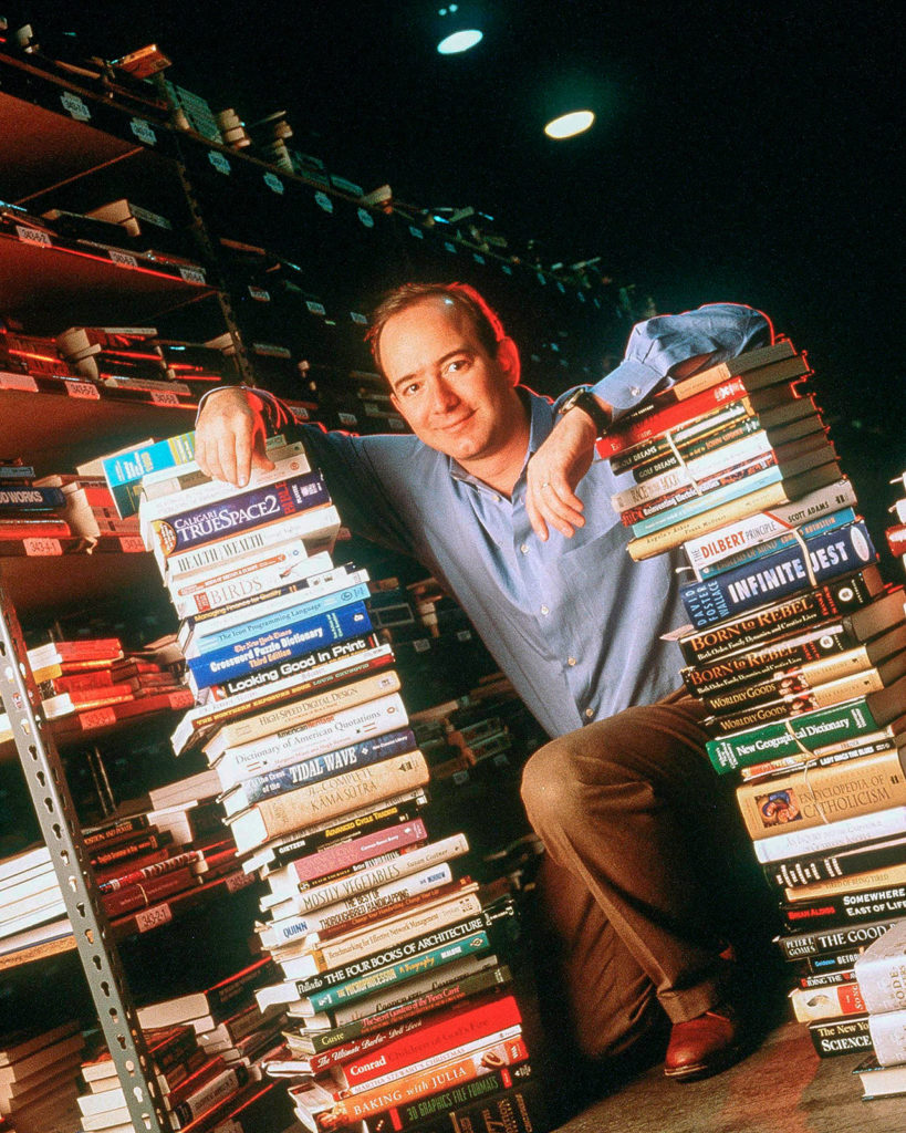 Jeff Bezos Founder & CEO Of Amazon Com Poses For Portrait January 1 1997 In Seattle W