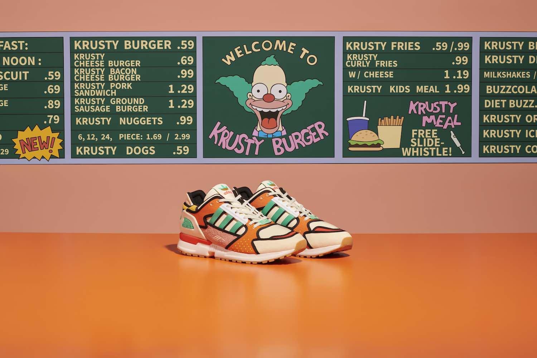 Adidas rinde homenaje a Los Simpson con modelo inspirado en Krusty Burger
