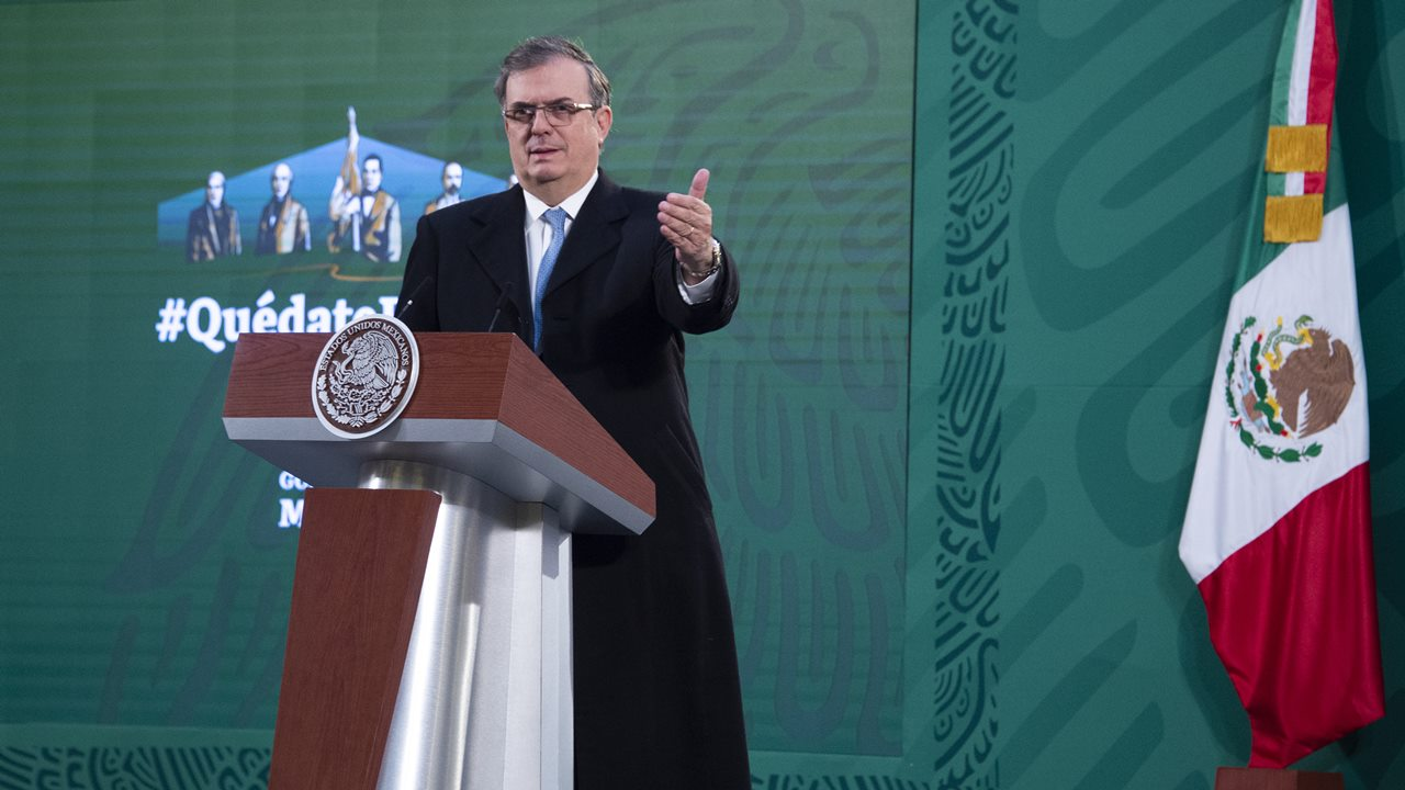 Ebrard busca cooperación de Rusia para vacuna mexicana Patria