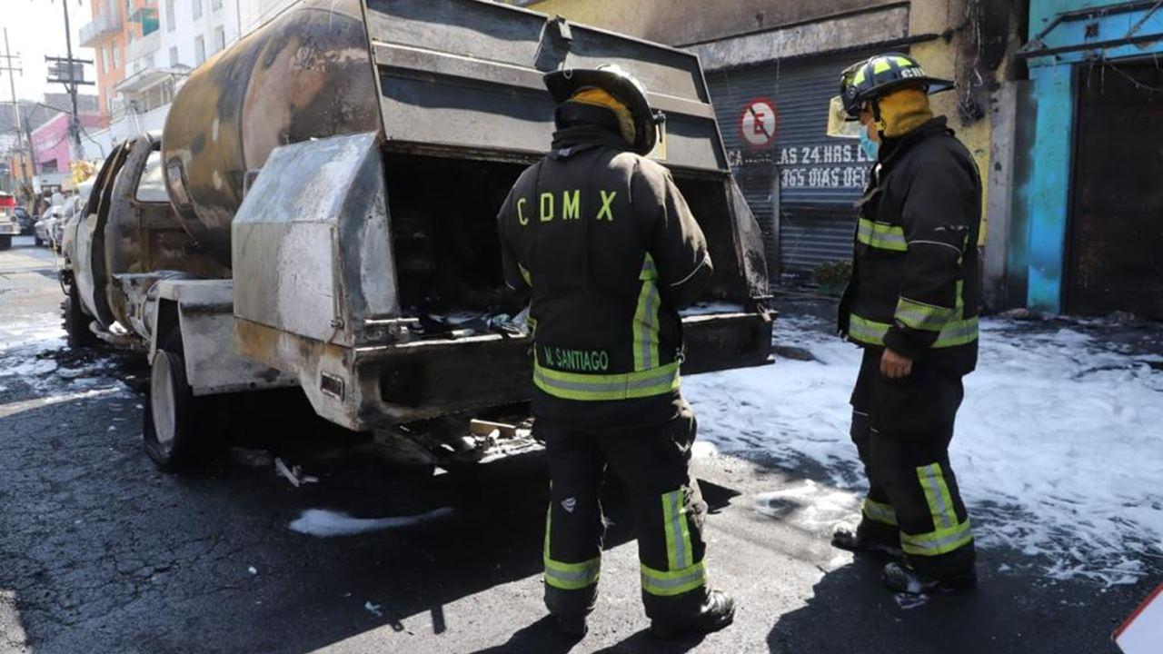 Explosión de pipa de gas deja 8 heridos en el mercado Jamaica de CDMX