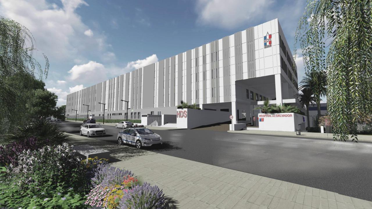 Construcción del Hospital del Salvador y del Instituto Nacional de Geriatría en Chile a cargo de Grupo GIA, con avance del 20%