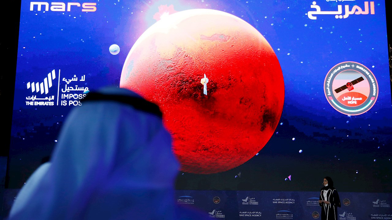 Sonda Hope de Emiratos Árabes entra en la órbita de Marte