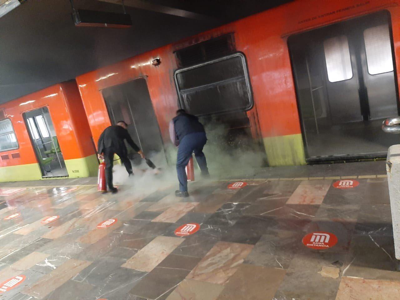 Tren de línea 3 del Metro sufre 'flamazo' a unos días de su reapertura