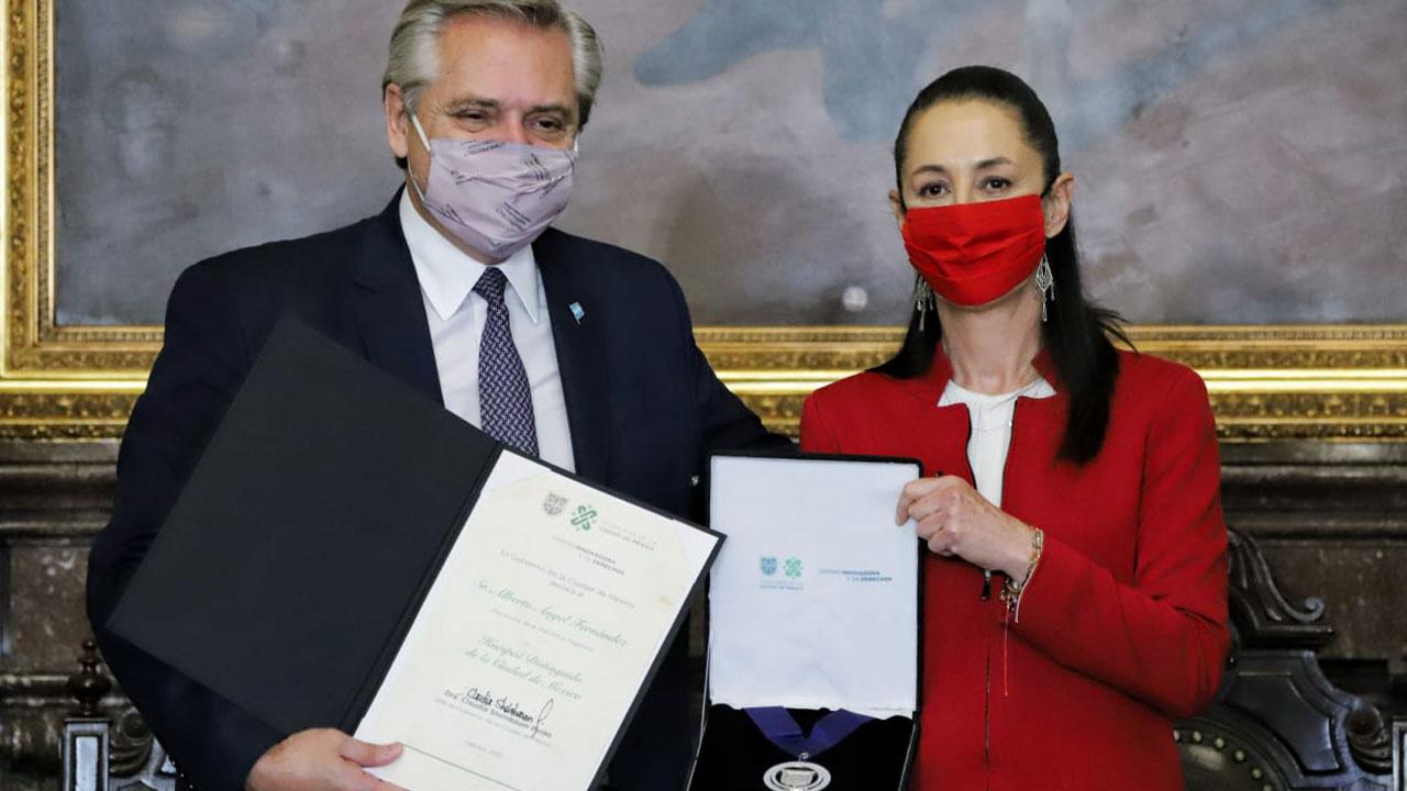 Presidente de Argentina es nombrado Huésped Distinguido de la CDMX