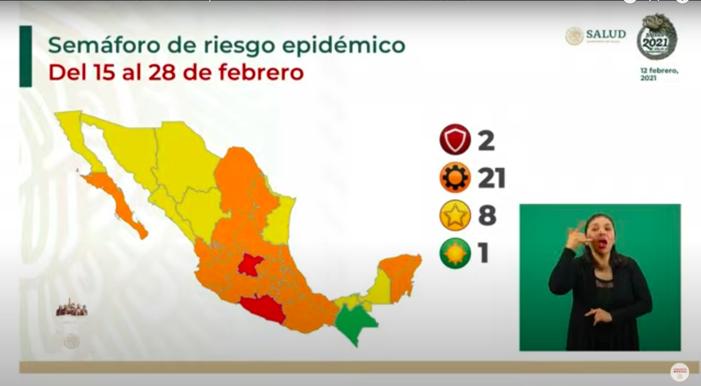 Semáforo Covid-19: Chiapas regresa a color verde