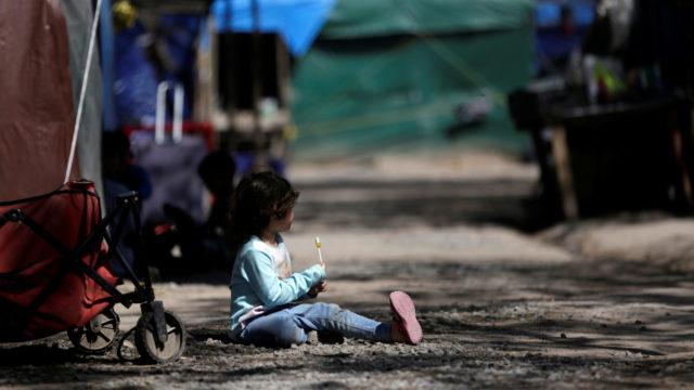 México campamento migrantes EU Biden