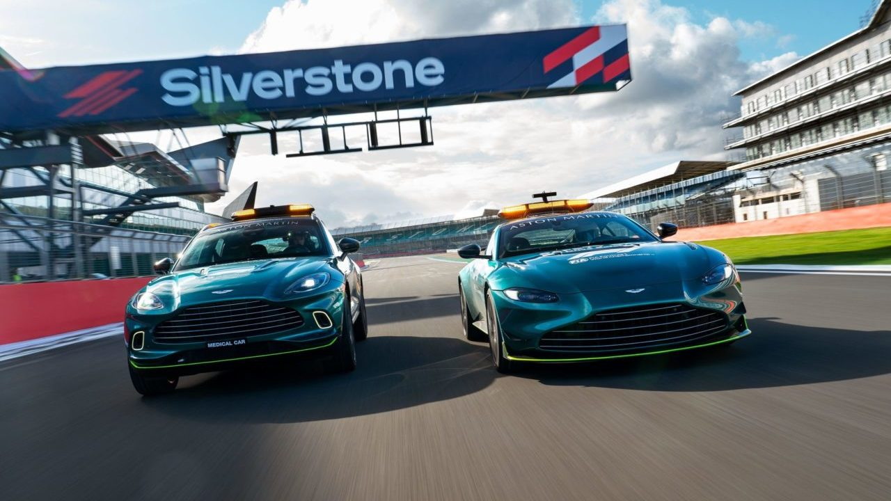 Así lucirán los Safety Cars de Aston Martin esta temporada de la F1