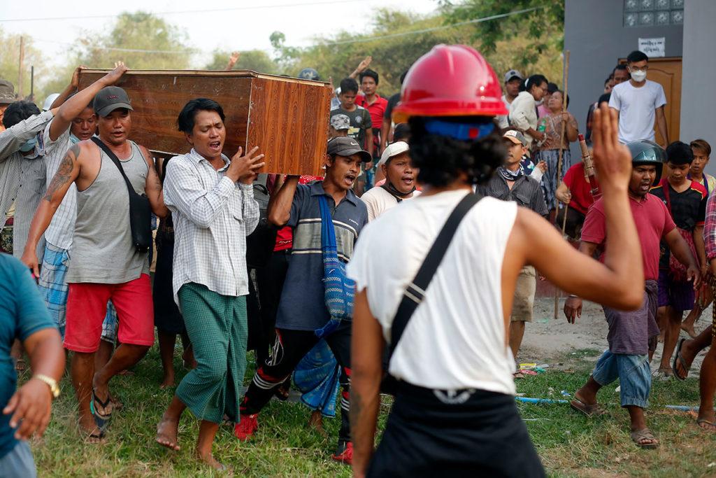 Birmania. Funeral Of Tin Hla In Yangon