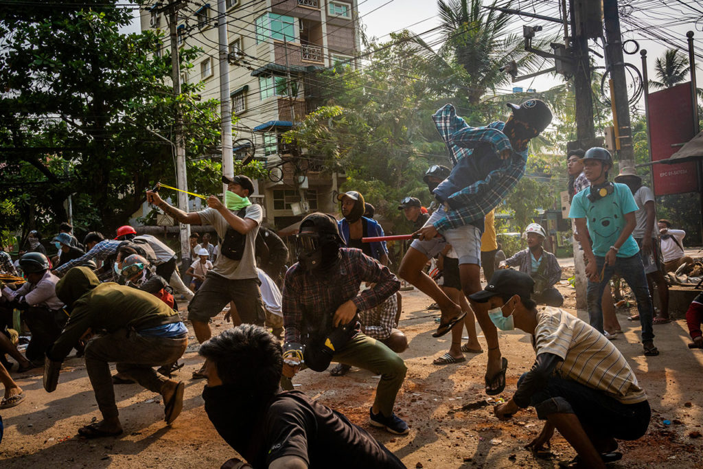 Birmania Myanmar Protests Continue On Deadliest Day Since Coup