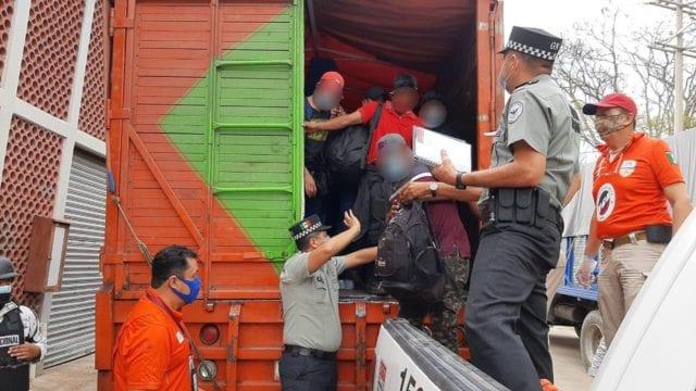 migrantes centroamericanos en Chiapas