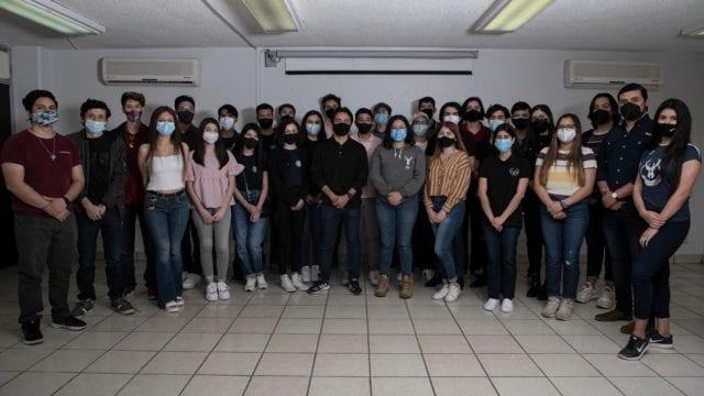 Algunos de los estudiantes seleccionados. Foto: © Andrea Gama / Forbes México 5 de marzo 2021.