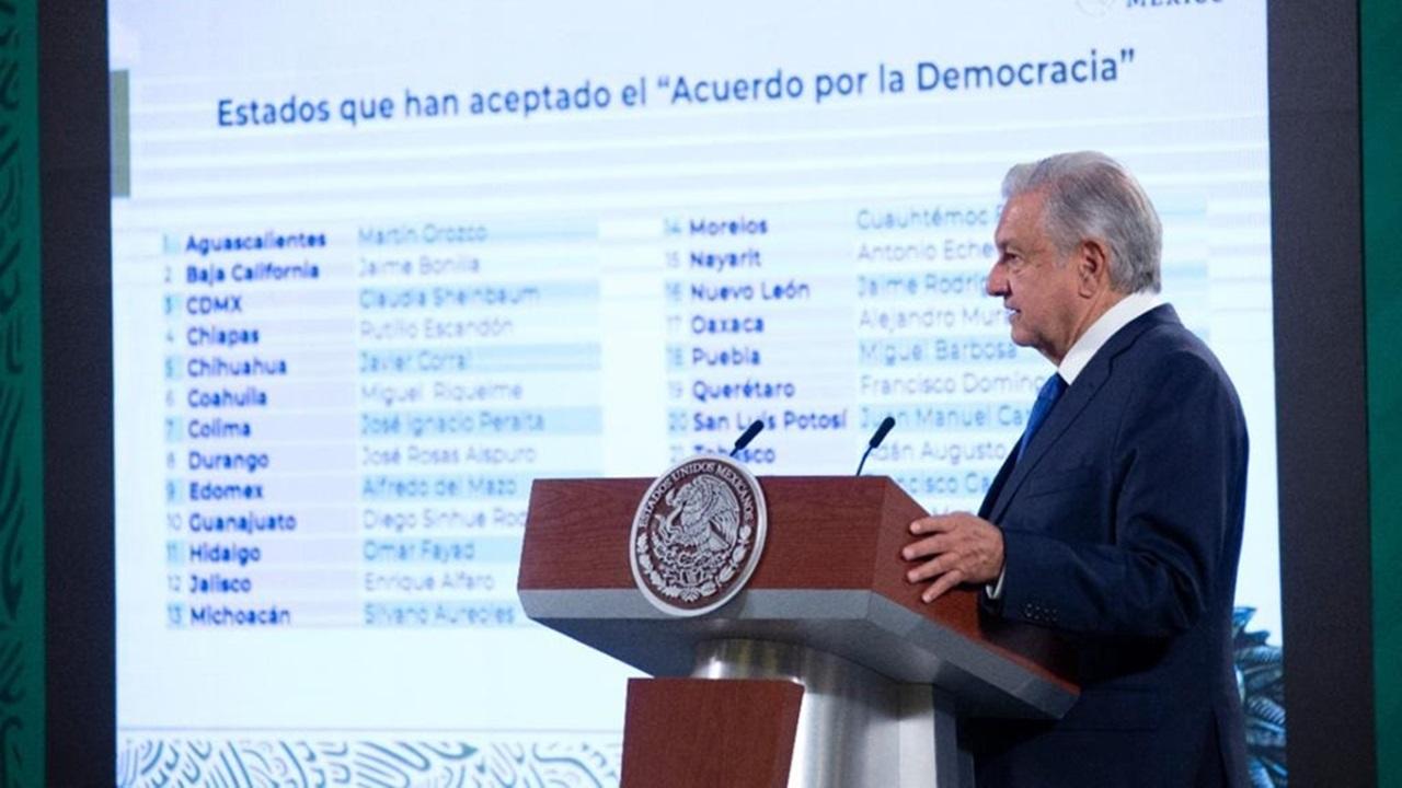 Acuerdo por la Democracia de AMLO suma 25 gobernadores