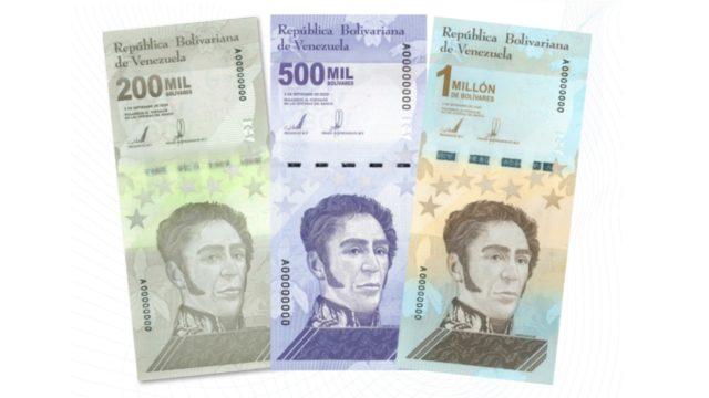 billetes 1 millón bolívares Venezuela