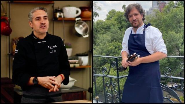 Chefs Mikel Alonso y César de la Parra