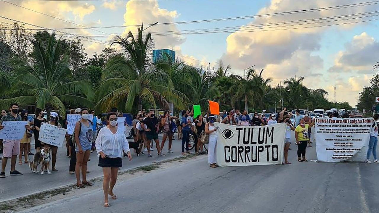 Cuatro policías detenidos por feminicidio de migrante salvadoreña en Tulum