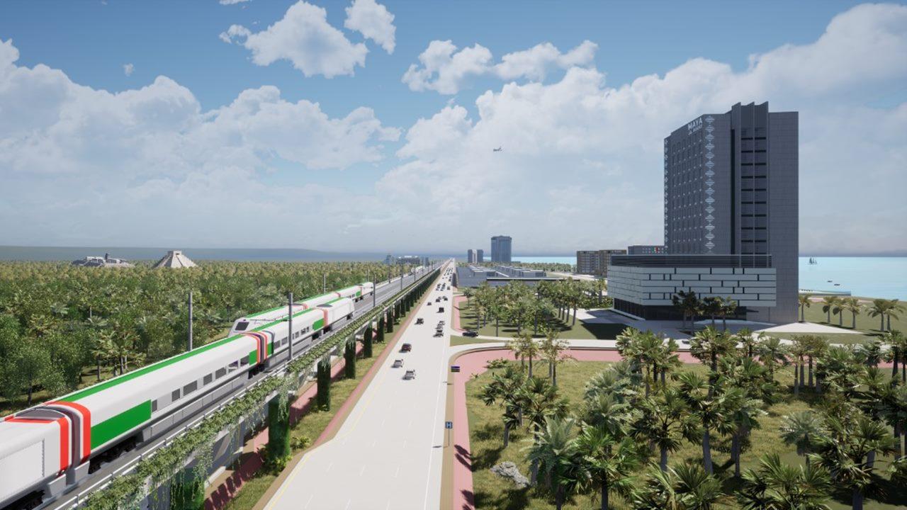 Sedena construirá tramo del Tren Maya de Cancún a Playa del Carmen; será elevado