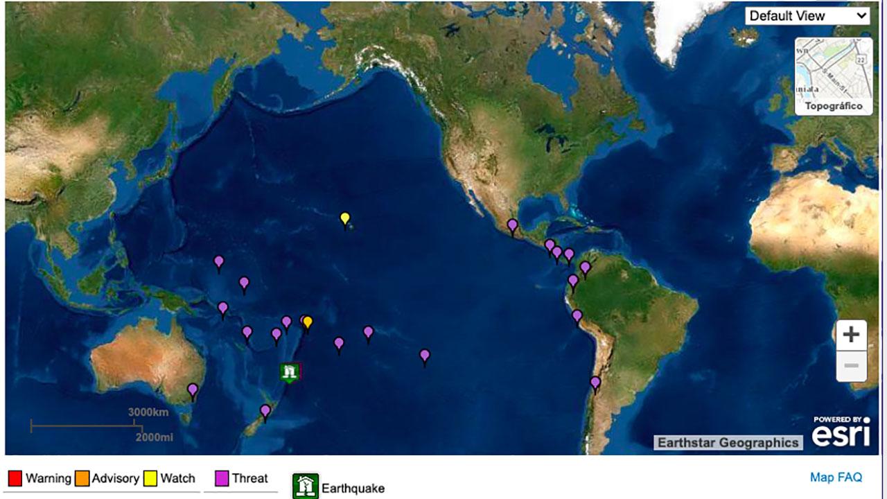 Nueva Zelanda emite advertencia de tsunami tras tercer terremoto de 8.0