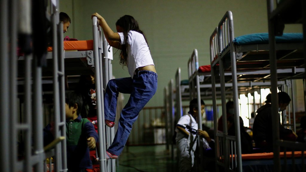 Niños Migrantes Asylum-seeking migrants from Central America, who were expelled from the U.S., are housed at a temporary shelter in Ciudad Juarez