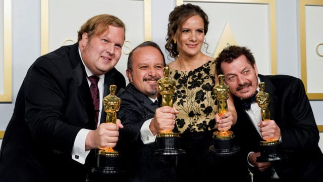 Phillip Bladh, Carlos Cortes, Michellee Couttolenc and Jaime Baksht