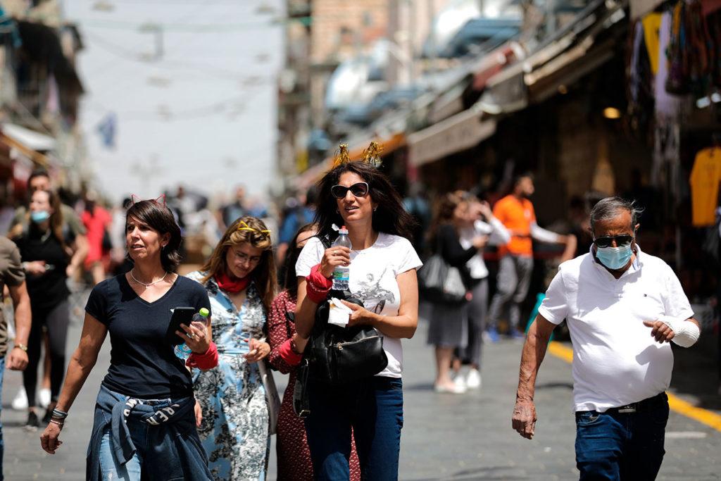 Coronavirus in Israel sin mascarilla