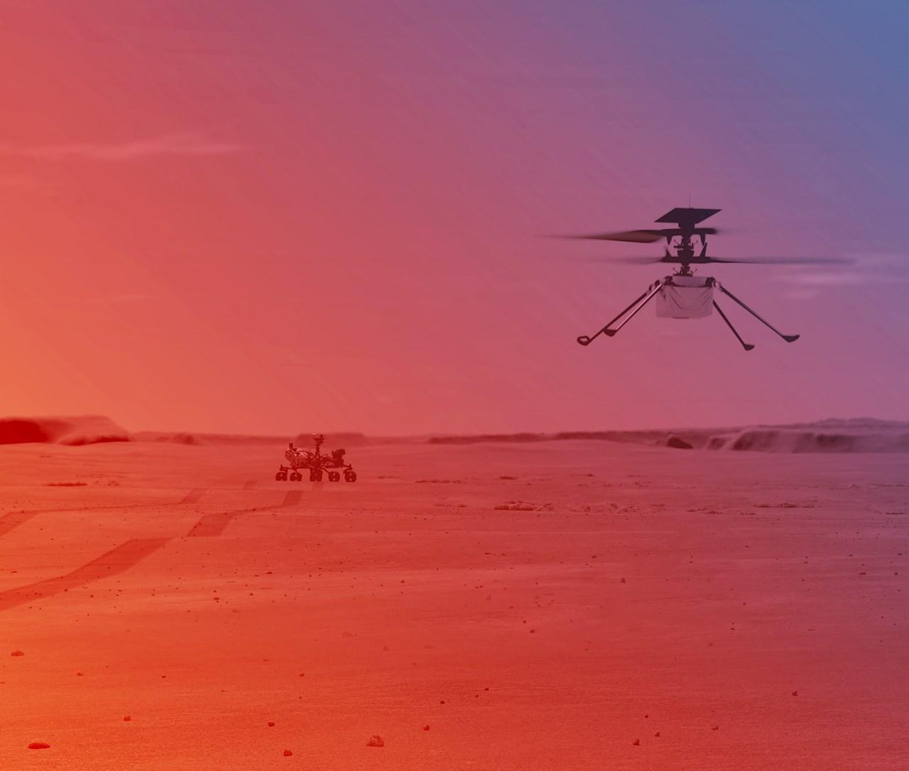 El helicóptero Ingenuity de la NASA, listo para histórica hazaña en Marte