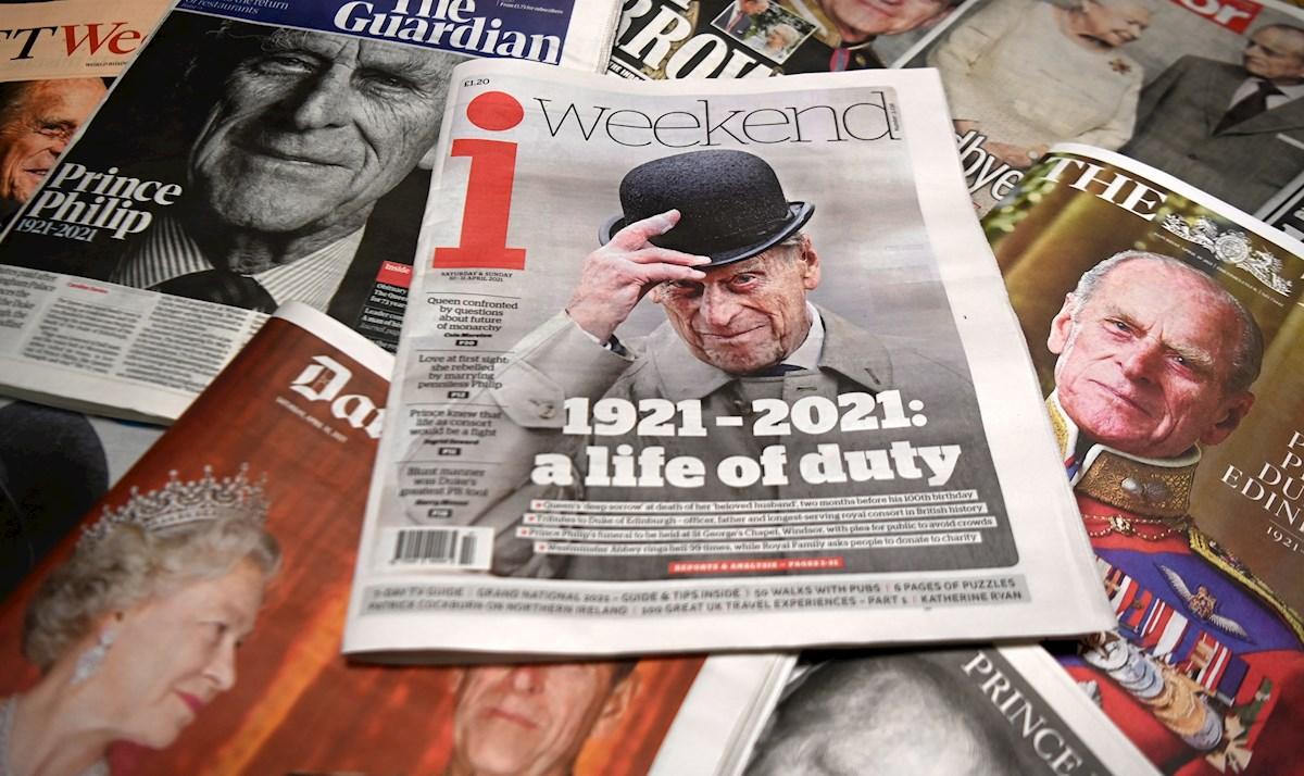 La familia real despedirá el sábado al príncipe Felipe en un funeral en Windsor
