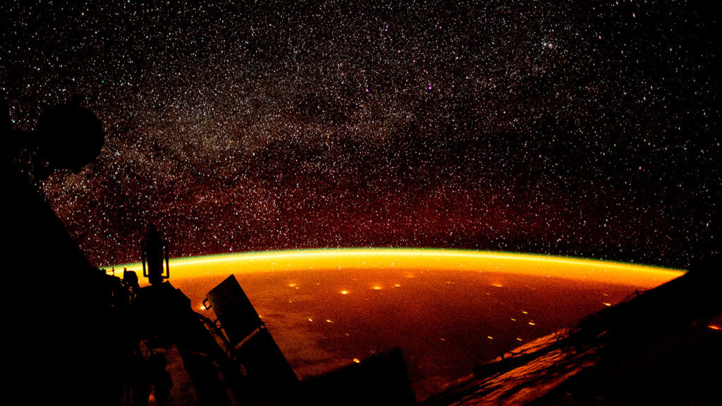 Dia mundial de la Tierra vista desde la estacion espacial 8