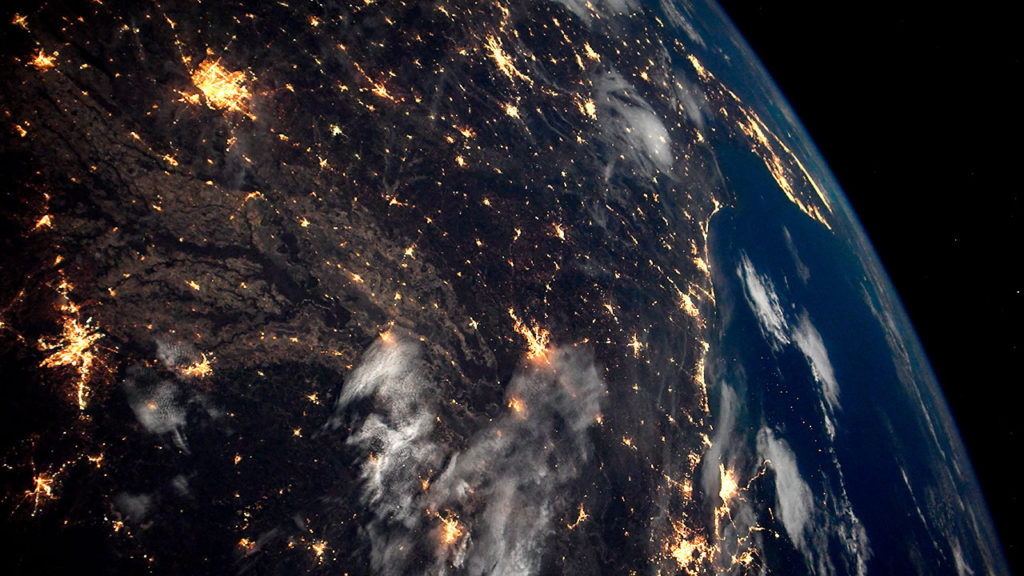 Dia mundial de la Tierra vista desde la estacion espacial 9