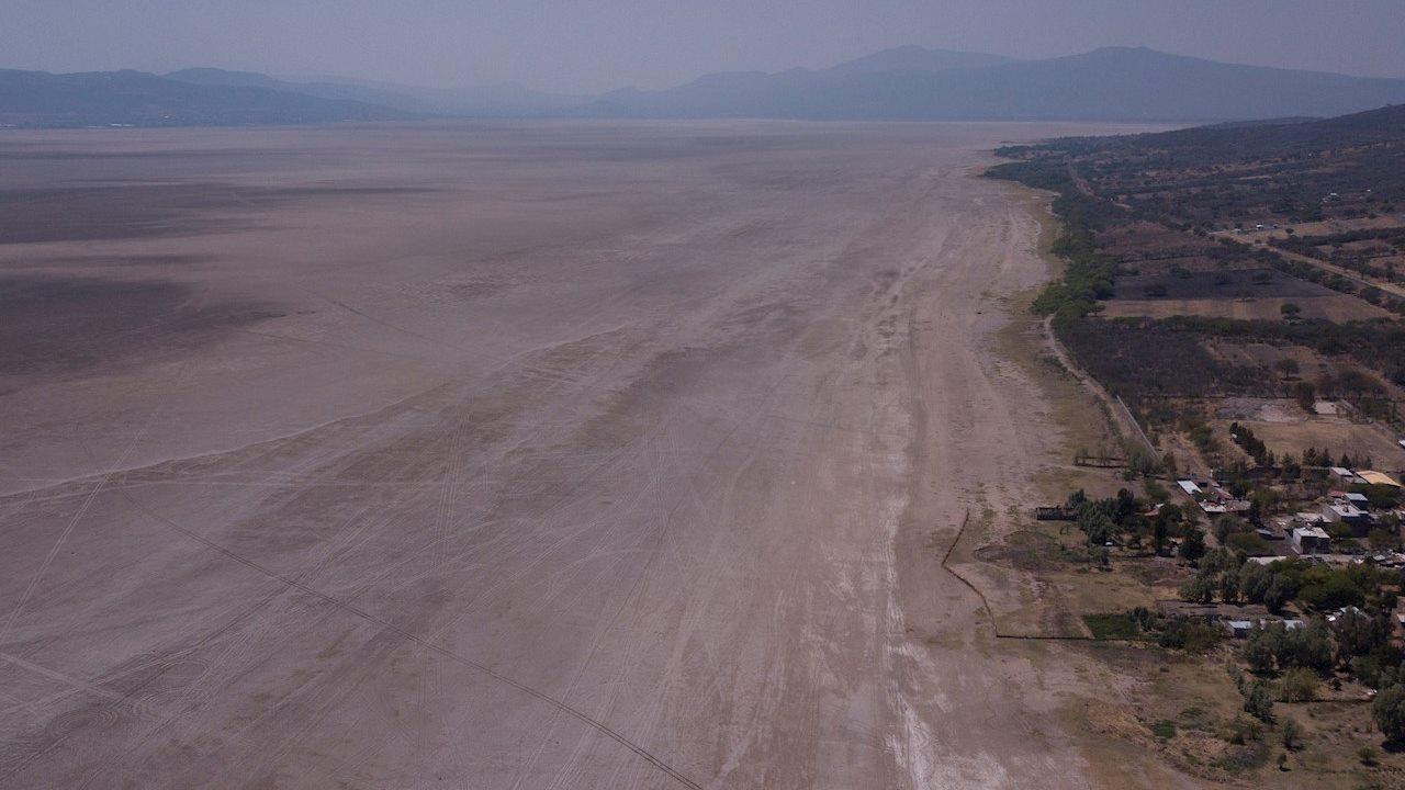 Lago de Cuitzeo, el segundo más grande de México, está cerca de extinguirse