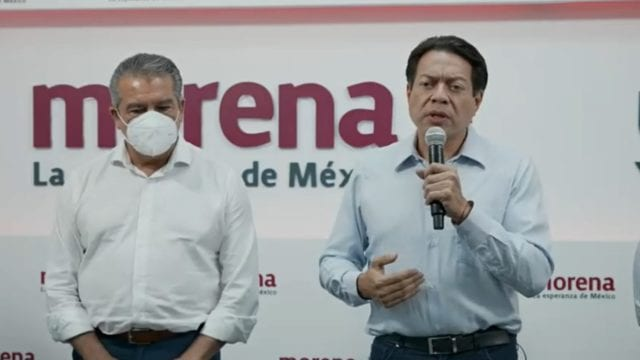 Mario Delgado y Raúl Morón. Foto_: Morena