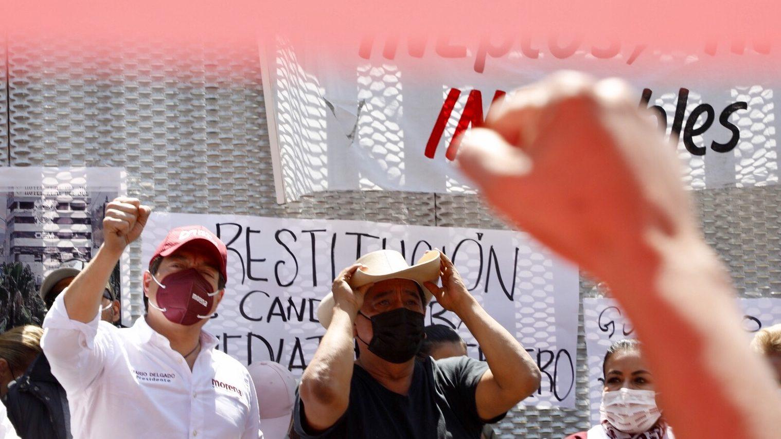 Si consejeros del INE no rectifican, iremos a sus casas: Salgado Macedonio