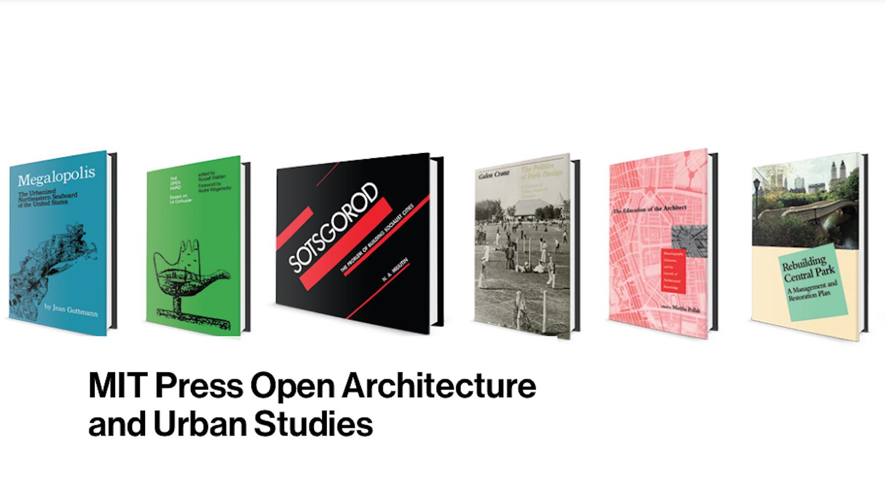 MIT ofrece más de 30 libros de arquitectura y estudios urbanos, totalmente gratis
