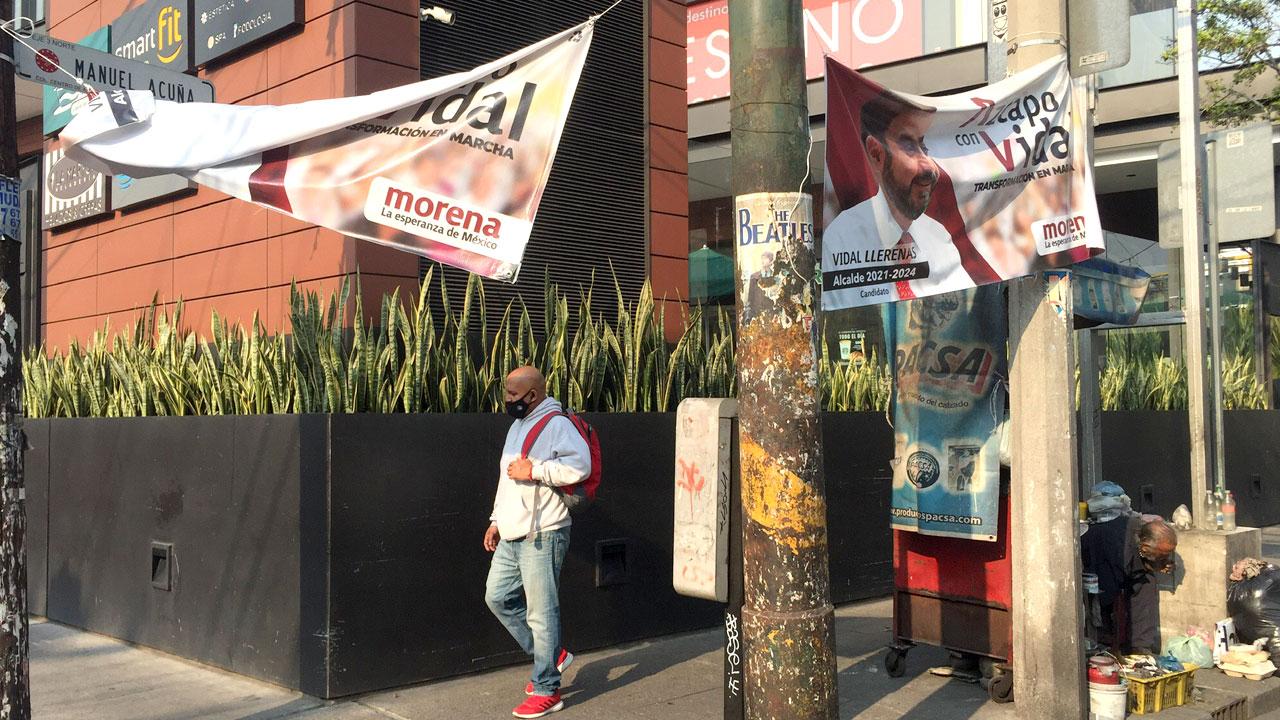 Campañas llegan con ola de basura electoral a la CDMX