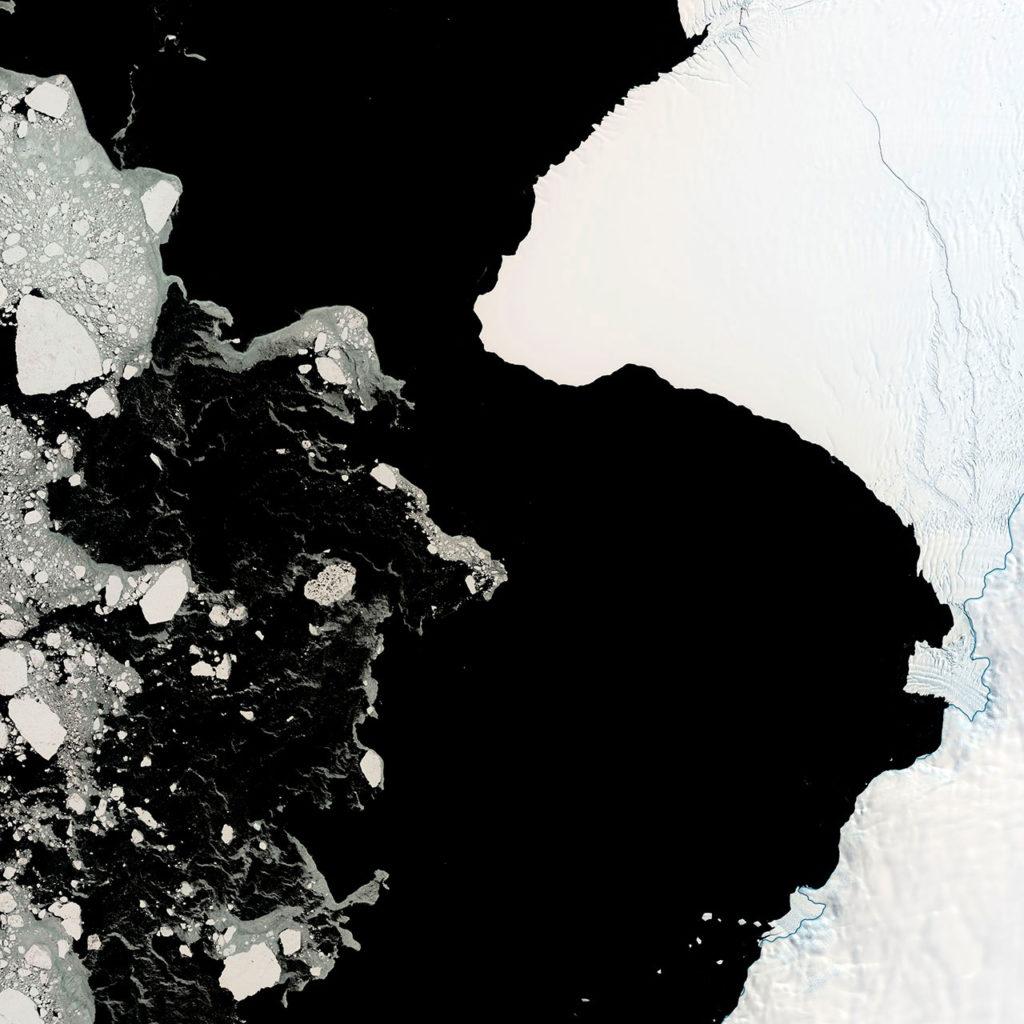hielo Brunt de la Antártida