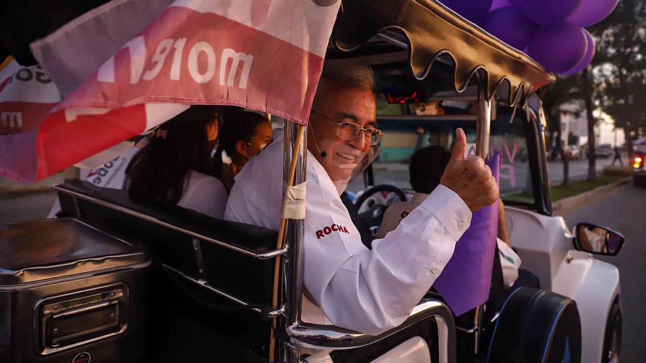 El morenista Rubén Rocha encabeza preferencias electorales en Sinaloa