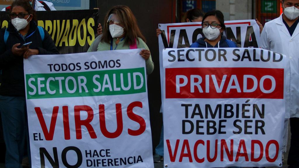 Médicos privados protesta Sector Salud Privado